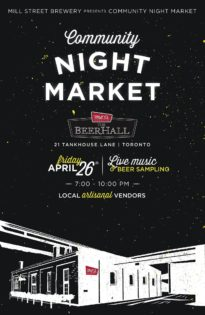 コミュニティー・ナイト・マーケット/Community Night Market @ The Beer Hall Mill Street | Toronto | Ontario | カナダ