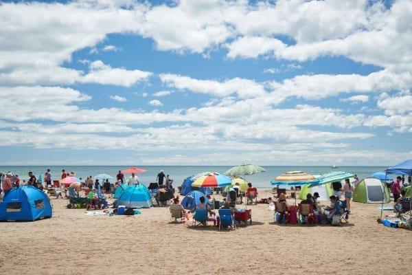 コバーグ町のビーチ