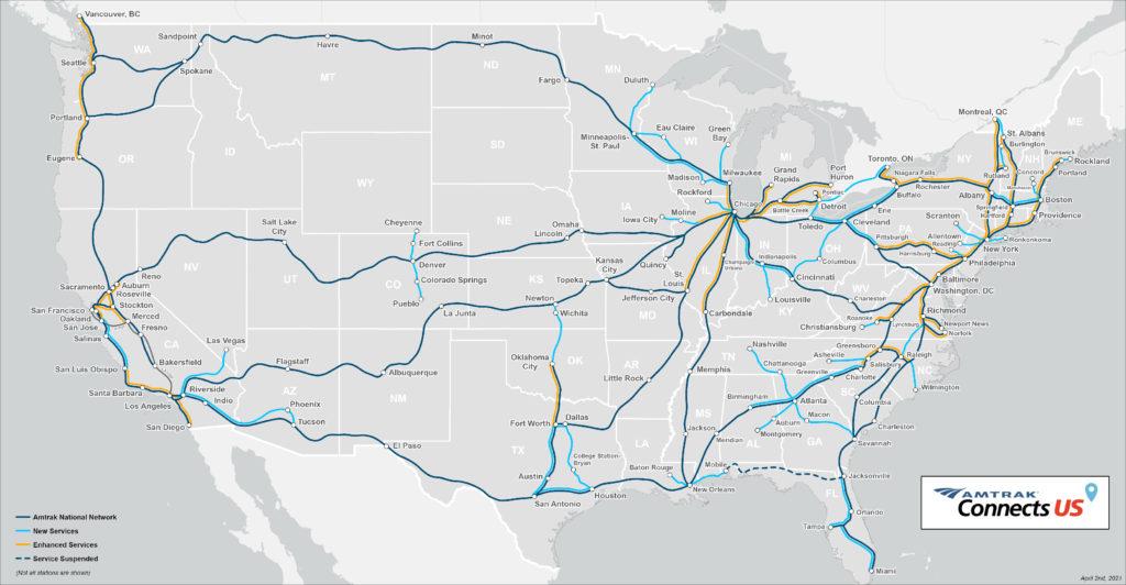 アムトラックがトロントへの路線を広げる計画を立てた経緯とは?